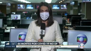 DF tem 2.799 casos de coronavírus - O número de casos aumentou 56% em uma semana. Já são 44 mortes por Covid-19.