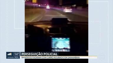 Polícia persegue bandidos em Samambaia - Os bandidos fugiram com um carro roubado.