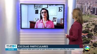 MP quer que escolas privadas de Aracaju apresentem planilhas de custos e revisem contratos - Decreto estendeu suspensão das aulas até o dia 31 de maio.