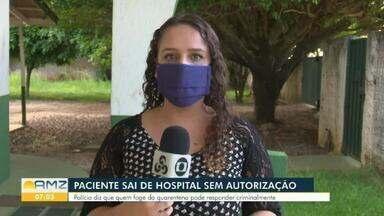 Em Vilhena, paciente sai do hospital sem autorização - A paciente estava em isolamento com sintomas da Covid-19.