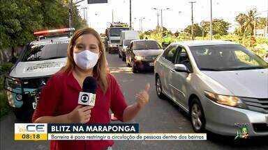 Barreiras são montadas para restringir circulação em vias de Fortaleza - Saiba mais em g1.com.br/ce