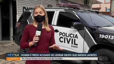 Homem é preso, acusado de liderar grupo que matava ladrões - Crimes aconteceram na área rural de Curitiba