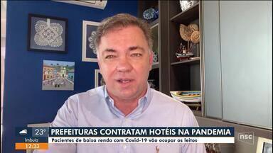 Florianópolis e Blumenau vão credenciar hotéis para receber pacientes com Covid-19 - Florianópolis e Blumenau vão credenciar hotéis para receber pacientes com Covid-19