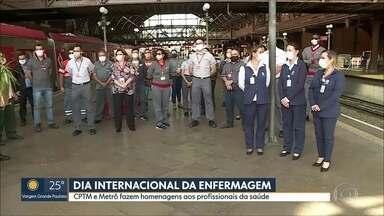 CPTM e Metrô fazem homenagem aos profissionais de saúde - A celebração foi no Dia Internacional da Enfermagem.
