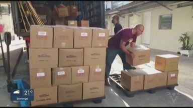 Empresas da Baixada Santista fazem doação de produtos de limpeza - Colônias de pescadores e hospitais da região receberam doações de duas empresas.