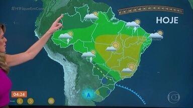 Previsão é de chuva no RS, SC e PR nesta quarta-feira - Chove também em Mato Grosso do Sul. O dia será quente em São Paulo. Veja a previsão do tempo para todo o país.