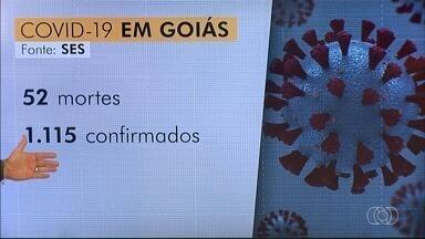 Número de mortos por coronavírus dobra em 15 dias e chega a 52 em Goiás - Quantidade de casos confirmados saltou de 600 para 1,1 mil no mesmo período. Óbitos foram registrados em 20 cidades goianas.