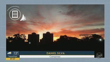 'Na Janela': céu alaranjado encanta moradores na manhã desta quarta - Telespectadores de Piracicaba, Campinas e Sumaré enviaram registros ao Bom Dia Cidade.