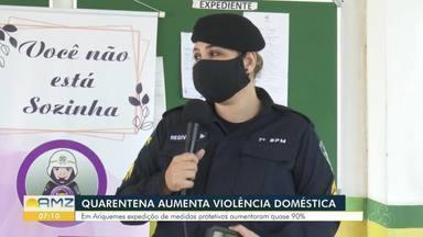Casos de violência doméstica disparam em Ariquemes, durante a pandemia - A Repórter Franciele do Vale tem as informações.