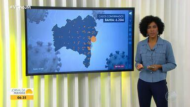 Bahia tem mais de seis mil casos confirmados de coronavírus, com 225 mortes - A doença está espalhada por 180 municípios baianos. Veja informações sobre a pandemia em todo o estado.