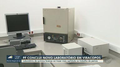 Polícia Federal conclui construção de laboratório da perícia no aeroporto de Viracopos - Laboratório de química forense vai trazer mais agilidade ao trabalho da perícia em situações de apreensão de substâncias suspeitas.