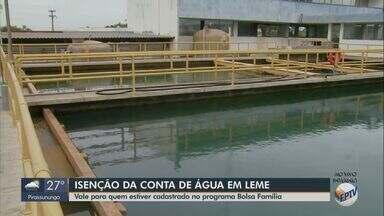 Moradores de Leme cadastrados no Bolsa Família podem pedir isenção da conta de água - Saiba como deve ser feita a solicitação.