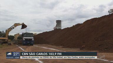 Obras do piscinão na CDHU da Vila Izabel, em São Carlos, estão avançadas - O apresentador da CBN Flávio Mesquita traz mais informações.