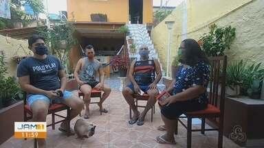 Após confirmação de exame para Covid-19, família muda rotina - Quatro pessoas da mesma família foram infectadas.
