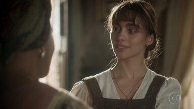 Idalina aconselha Cecília a se afastar de Libério - A escrava teme que Sebastião faça alguma coisa contra o jornalista e também contra a própria filha. Cecília promete que não vai mais atrás do moço.