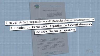Prefeitura de Campina Grande do Sul decreta lockdown em três bairros da cidade - Prefeitura determinou toque de recolher para conter o avanço da Covid-19 na cidade.