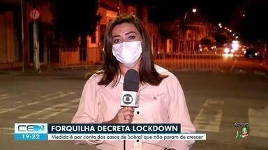 Forquilha decreta 'lockdown' - Confira mais notícias em g1.globo.com/ce