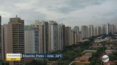 Confira a previsão do tempo para esta sexta-feira (15) em Ribeirão Preto e região - Temperatura deve chegar aos 24º C.
