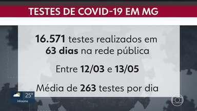 Média de testes para Covid-19 no estado é de 263 por dia - Os laboratórios públicos cadastrados no estado, além da Fundação Ezequiel Dias que também faz as análises, possuem capacidade para avaliarem até dois mil testes por dia.