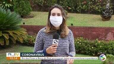 Rio das Flores e Barra do Piraí anunciam teste para monitorar pandemia da Covid-19 - Cidades irão realizar testes em massa para detectar o coronavírus na população.