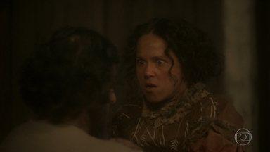 Germana descobre paixão de Licurgo por Elvira - Enquanto isso, Dom Pedro impede Joaquim de beber o café preparado por Elvira