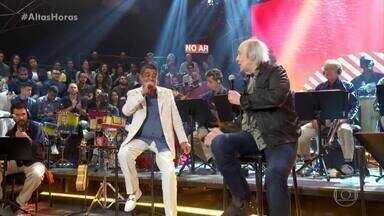 """Zeca Pagodinho e Erasmo Carlos cantam """"Cama e Mesa"""" - Dupla emociona plateia e convidados com grande sucesso"""