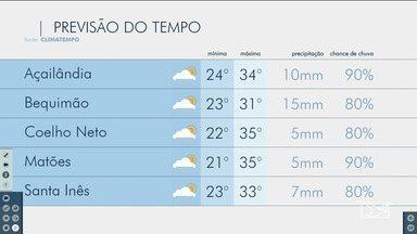Veja as variações das temperaturas no Maranhão - Confira a previsão do tempo nesta segunda-feira (18) em São Luís e também no interior do estado.