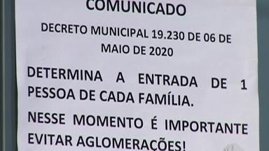 Decreto em Mogi por causa da pandemia exige diálogo entre comerciantes e clientes - Agora só é permitido que uma pessoa por família entre em um estabelecimento comercial.