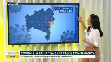 Bahia tem mais de 8.400 casos confirmados de coronavírus, com quase 300 óbitos - A doença está espalhada por mais de 180 municípios baianos. Mais de duas mil pessoas já se recuperaram. Confira informações sobre a pandemia em todo o estado.