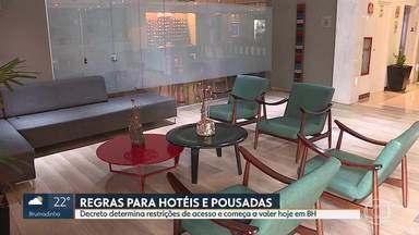 Regras para hotéis e pousadas de BH - Decreto, que começa a valer hoje, determina restrições de acesso em ambientes coletivos.