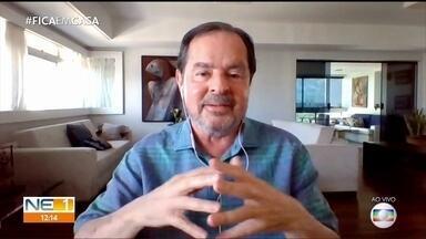 Cientista fala da importância de alcançar o índice de 70% de isolamento social - Sérgio Rezende é coordenador do Comitê Científico do Nordeste para Covid-19.