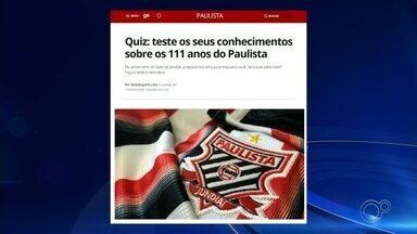 Confira as notícias do esporte da região com Douglas Brito - Veja notícias do Paulista e de atletas em treinamento durante a quarentena.