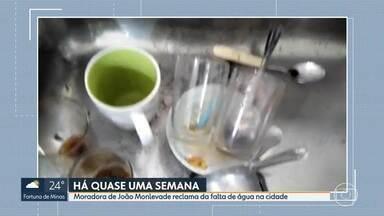 Moradora de João Monlevade reclama da falta de água há quase uma semana - Telespectadora do MG1 disse que teve a Covid-19 e, agora, teme pela saúde porque, sem água, não faz a limpeza básica da casa.