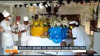 Tradição Bembé do Mercado é modificada diante cenário de pandemia da Covid-19 - Festa acontece há mais de 130 anos, em Salvador.