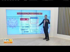 Telão mostra números da Covid-19 em Governador Valadares - Prefeitura confirmou a sexta morte causada pela doença nesse domingo (17).