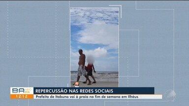 Pandemia: vídeo em redes sociais mostra prefeito de Itabuna caminhando na praia - Confira.