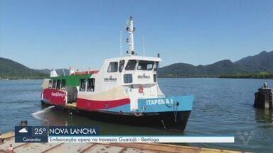 Lancha para pedestres e ciclistas começa a operar entre Guarujá e Bertioga - Travessia ganhou reforço com lancha exclusiva que começou a operar nesta segunda-feira (18).