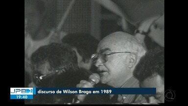 Discurso de Wilson Braga, ex-governador da PB, em 189 - Homenagem.