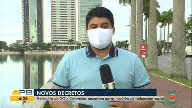 Novas medidas de prevenção ao coronavírus são adotadas em CG e Cajazeiras - Confira os detalhes com o repórter Artur Lira.