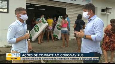 Governo do Estado e prefeitura de JP distribuem máscaras a população carente - Confira os detalhes com o repórter Hildebrando Neto.