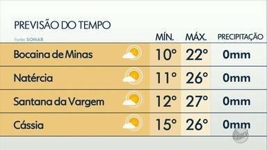 Confira a previsão do tempo para o Sul de MG - Suzana Siega traz os detalhes