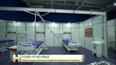 Piauí inaugura o primeiro hospital de campanha do estado - Novo hospital de campanha fica no centro de treinamento da Confederação Brasileira de Badminton.