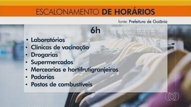Decreto estabelece horário escalonado de abertura de comércios, em Goiânia - Objetivo é tentar reduzir aglomerações em terminais e ônibus.