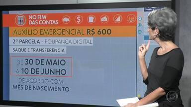 No Fim das Contas, Caixa paga 2ª parcela de auxílio, mas adia autorização para saque - A repórter de economia, Mônica Carvalho, explica detalhes de como será esse novo pagamento do auxílio emergencial de R$ 600.