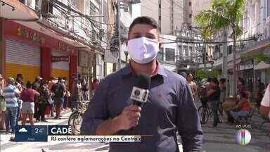 RJ1 confere aglomerações no Centro de Petrópolis, no RJ - População não está respeitando as regras de isolamento social.