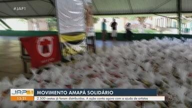 Programa distribui cestas básicas a pessoas em vulnerabilidade durante pandemia, no AP - Programa Amapá Solidário já distribuiu 2500 cestas básicas para pessoas que passam dificuldade durante pandemia do novo coronavírus. A iniciativa conta a ajuda de artistas.