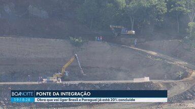 Projeto da nova ponte entre Brasil e Paraguai está 20% concluído - Em maio, completou um ano que a segunda ponte entre os países saiu do papel.