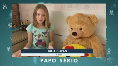 Coronavírus: papo sério de Júlia e Davi - Crianças de 9 e 5 anos, respectivamente, falam sobre o isolamento social e reforçam importância da higienização das mãos.