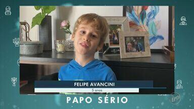 Coronavírus: papo sério de Matias e Felipe - Crianças de 5 anos falam sobre a importância da higienização das mãos e da quarentena.
