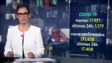 Número de mortos por coronavírus no Brasil é maior do que população de 64% dos municípios - São 17.971 vidas perdidas. Na últimas 24 horas, foram registrados 1.179 óbitos. Foi a primeira vez que o número diário passou de mil desde o início da pandemia.